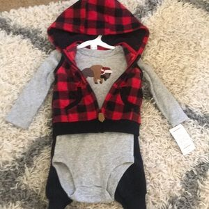 NWT Carter's Buffalo Plaid Set